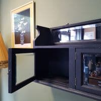 Black Chalk Paint Vintage Wall Cabinet